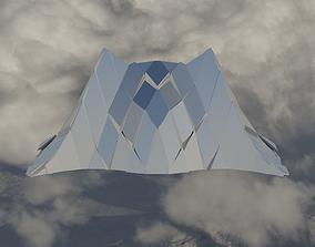 Silver Peak Structure Wall 3D asset