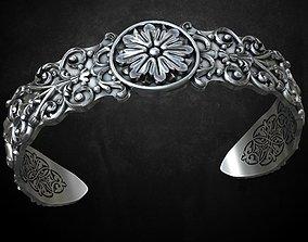 3D printable model Ancient bracelet with patterns 220