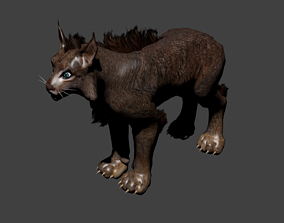 rigged Lynx - Low Poly - 3D model