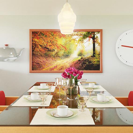 Dining table 3d scene