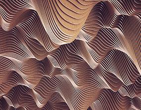 3D model Parametric wood Hall ceiling n2