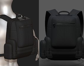3D asset Backpack military combat soldier armor scifi 1