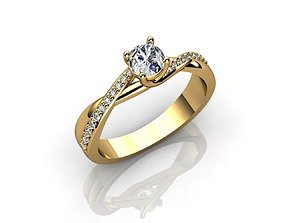 Engagement Rings and Diamond 3D print model