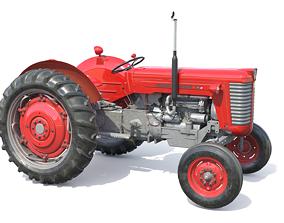 3D asset game-ready Massey Ferguson 65