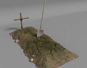 3D model Dirt Grave And Shovel