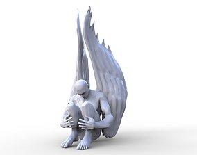 Falling Angel Sculpture 3D print model