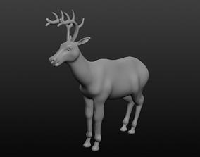 3D antler deer