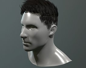 3D asset real time lowpoly short hair