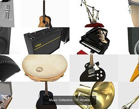 Music Collection 3D model