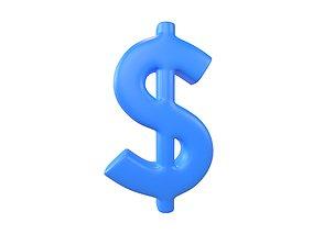 Dollar Symbol v2 004 3D model
