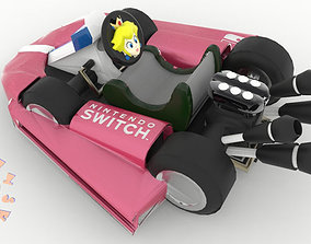 Princess Peach Kart Nintendo Switch 3D printable model 2