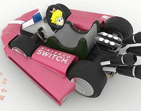 Princess Peach Kart Nintendo Switch 3D printable model 2