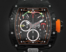 Richard Mille RM 50-03 Watch With Orange Strap 3D