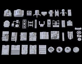 3D Scifi Greeble Kitbash