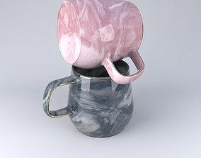 3D European Milk Coffee Mugs