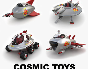 3D model Cosmic toys collection