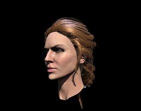 3D asset Hair red bung