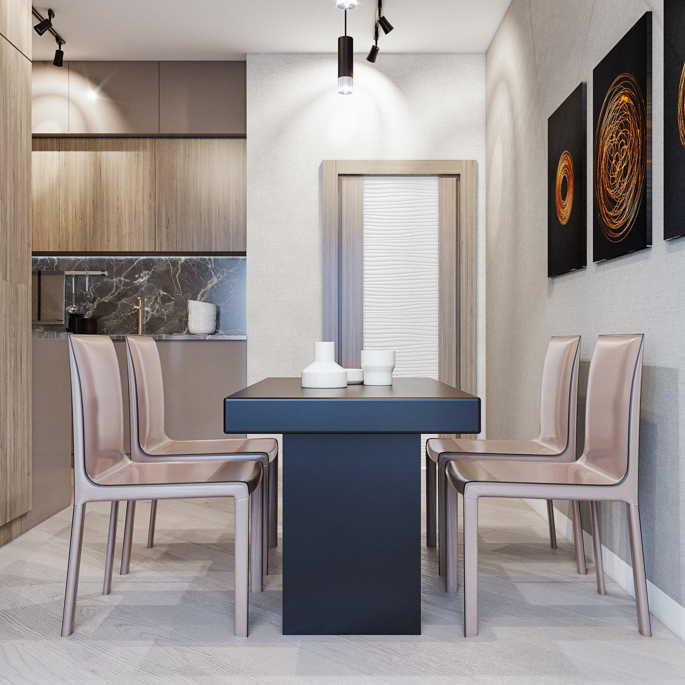 Modern apartment full interior