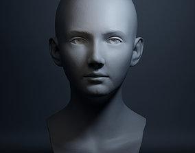 3D print model Female Head High Poly