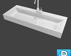bowl 3D model Sink and faucet
