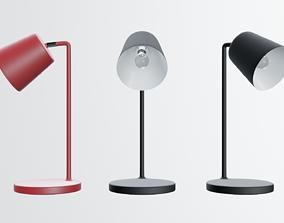 modern desk lamp in black 3D model
