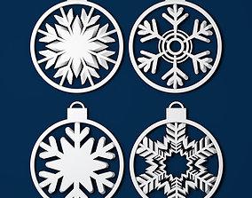 Christmas decoration snowflake 3d print frozen