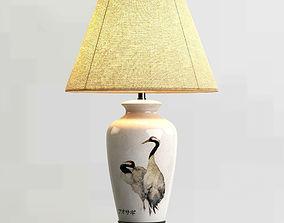 furniture Table lamp japanese motive 3D model