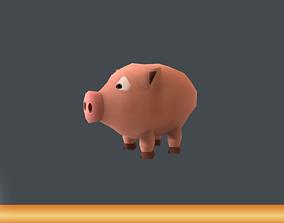 3D model Mini Pig Cartoon
