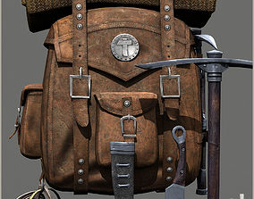 Survival Old Backpack 3D model
