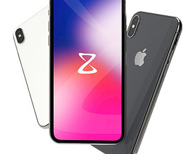 3D Apple iPhone X mobile