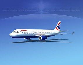 3D asset Airbus A320 LP British Airways