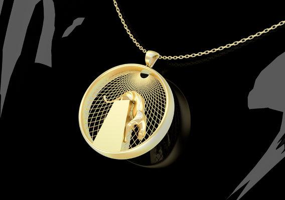 Sculpture Cougar Pendant jewelry Gold 3D print model
