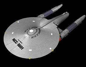 USS Draco Star Trek Style Ship 3D