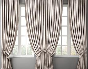 curtain tulle 3D model Curtain