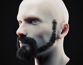 Beard Low Poly 19 3D model
