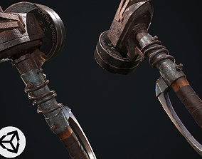 equipment Hammer 3D asset low-poly PBR
