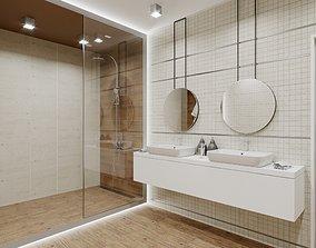 3D model Minos Bathroom Scene for Cinema 4D and Corona 1