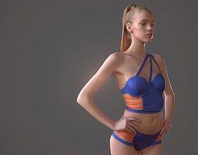 Swimsuit girl 3D asset
