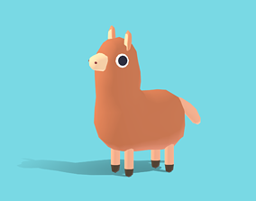 Ally the Alpaca - Quirky Series 3D model