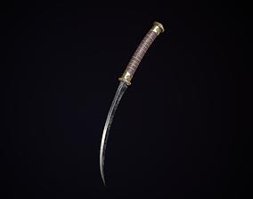 Ancient dagger engraving 3D asset