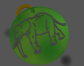 Pendant Elephant Full 3D printable model