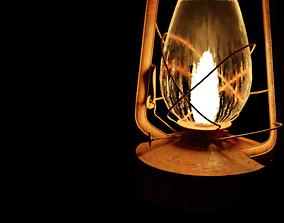 rusty 3D asset game-ready lantern