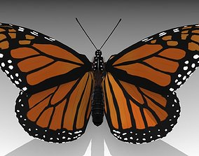 3D model animated realtime Monarch butterfly