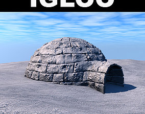 3D model Low poly igloo
