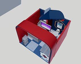 Exhibition Booth 3D model stand design