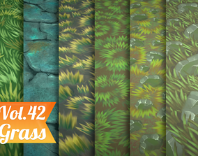 3D model Stylized Grass Vol 42 - Hand Painted Textures