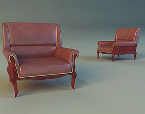 3D model Armchair ancient