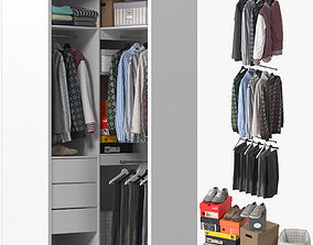Wardrobe with Clothes 10 3D