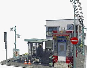 Japanese Corner Block 3D model