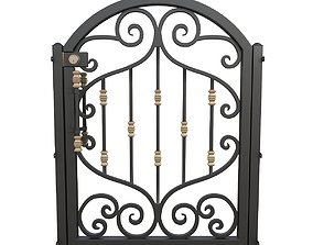 Wrought iron gate 01 3D model